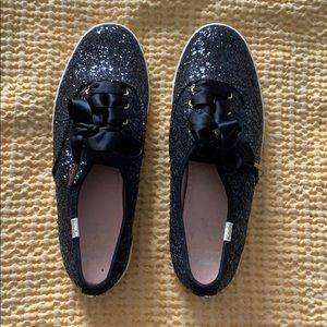 It's back again! Black sparkly Kate Spade shoes!